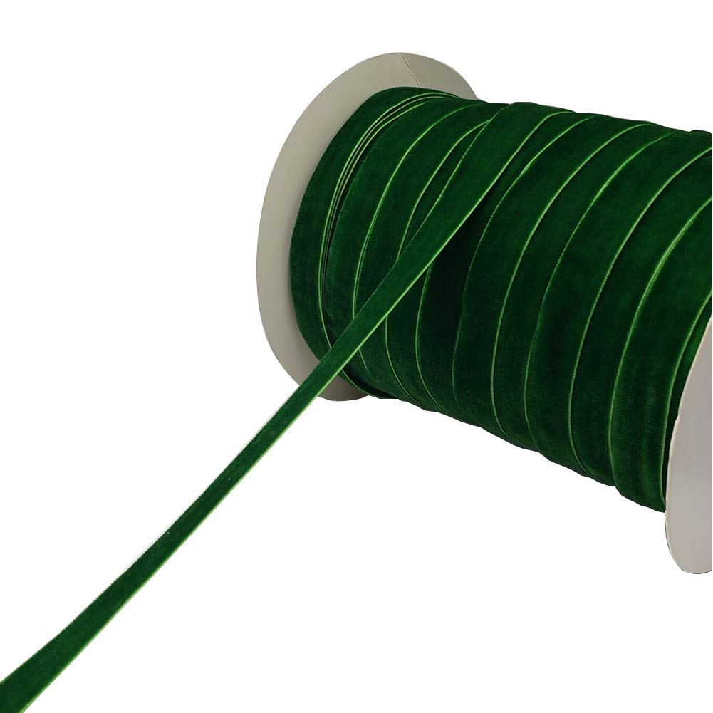 Spool of ribbon clipart graphic freeuse download 10 Yards Velvet Ribbon Spool Available in Many Colors (Green, 5/8\