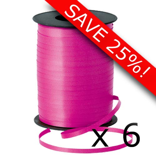 Spool of ribbon clipart banner 6 Spools of Standard Hot Pink Ribbon - 500m [26536-6 ... banner
