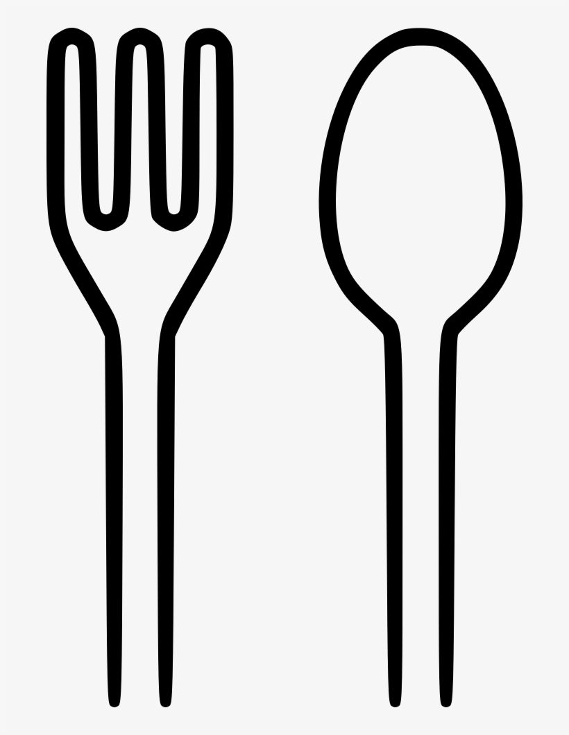 Spoon black and white clipart vector black and white library Spoon Fork Png - Spoon And Fork Clipart Black And White ... vector black and white library