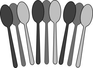 Spoon black and white clipart graphic transparent Black/white Spoons Clip Art at Clker.com - vector clip art ... graphic transparent