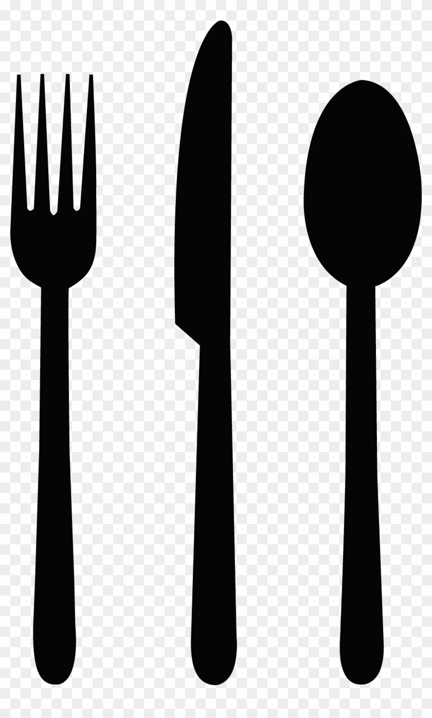 Spoon fork knife cliparts picture black and white library Spoon And Fork Png - Fork Knife Spoon Silhouette ... picture black and white library