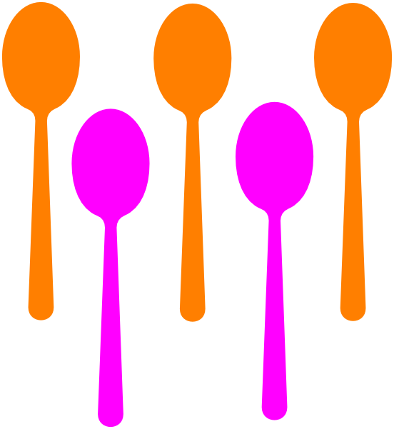 Spoons clipart freeuse stock 3 Spoons Clip Art at Clker.com - vector clip art online ... freeuse stock