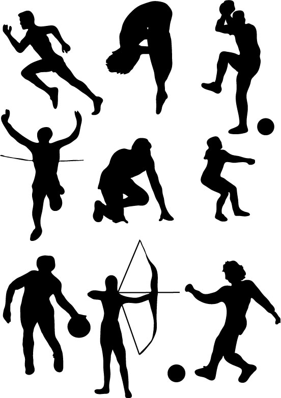 Sport cliparts clipart black and white stock Sport Clipart | Free Download Clip Art | Free Clip Art | on ... clipart black and white stock