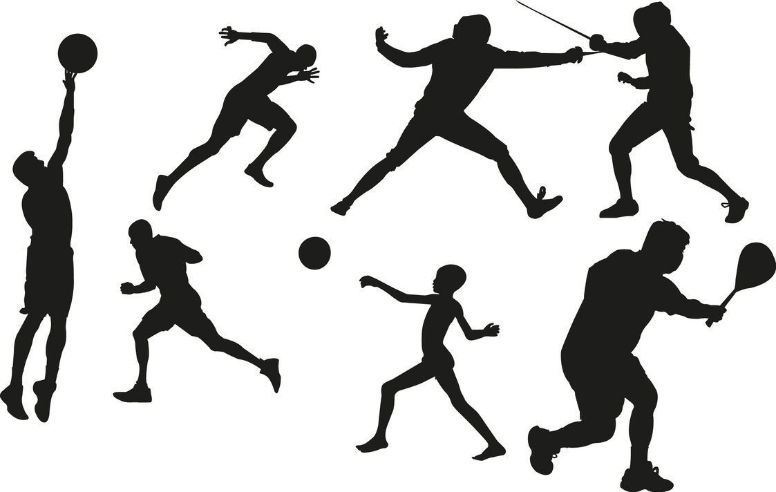 Sport cliparts freeuse Sports Shiloettes - ClipArt Best freeuse