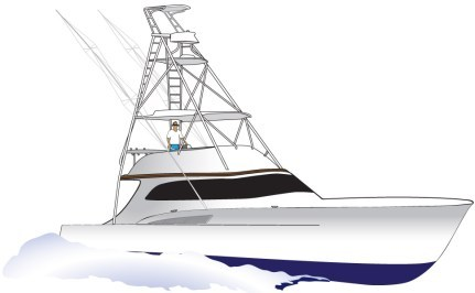 Sport fishing boat clipart jpg black and white Sport fishing boat clipart 7 » Clipart Portal jpg black and white