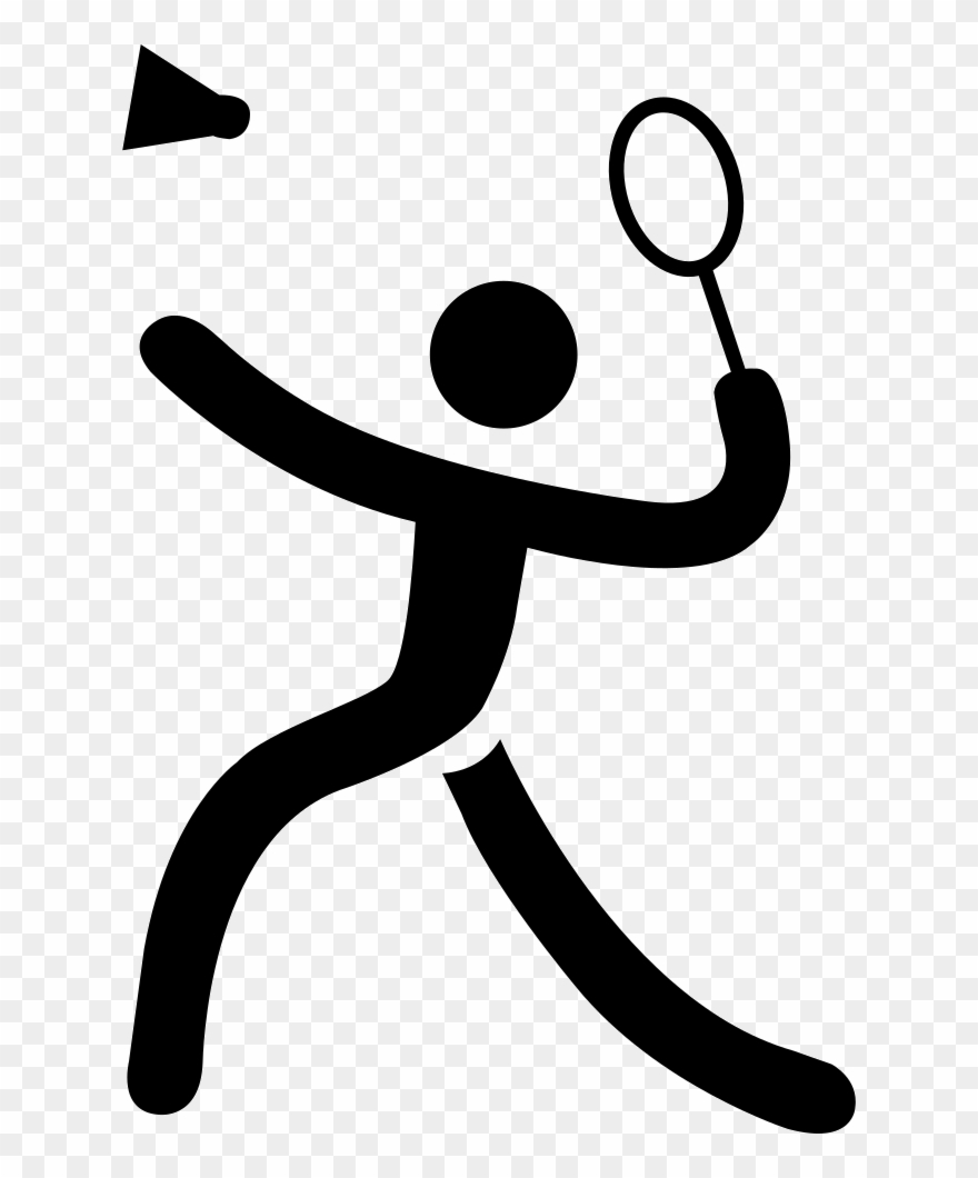 Sports black and white clipart clipart library stock Badminton Cartoon Black And White Clipart Badminton - Sport ... clipart library stock