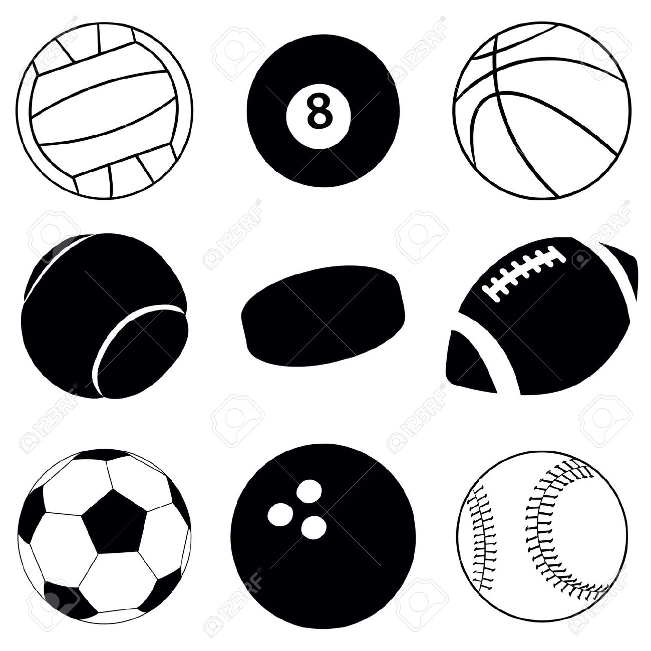 Sports black and white clipart graphic freeuse download Sport Clipart Black And White | Free download best Sport ... graphic freeuse download
