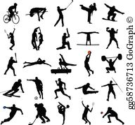 Sports black and white clipart clip art transparent stock Sport Clip Art - Royalty Free - GoGraph clip art transparent stock
