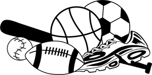 Sports black and white clipart picture library download Sports Clipart PNG Transparent - AZPng picture library download