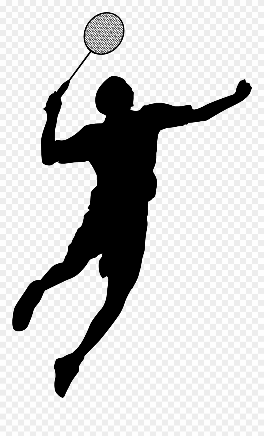 Sports figures clipart clipart Silhouette Sports Figures At Getdrawings - 羽毛球 剪影 ... clipart
