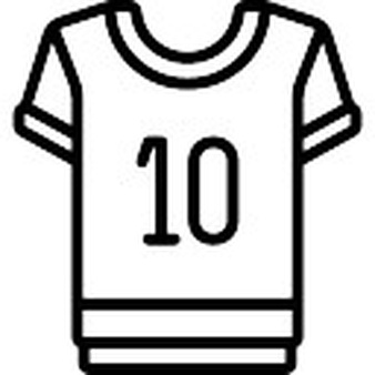 Sports jersey clipart black and white png stock Football Jersey Clipart Black And White png stock