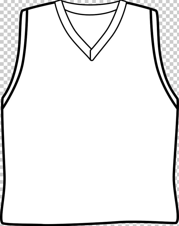 Sports jersey clipart black and white graphic transparent stock Sleeve Basketball Uniform Jersey PNG, Clipart, Area ... graphic transparent stock