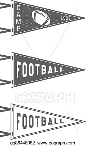 Sports pendant clipart jpg transparent download Clip Art Vector - College football pennant flags set. vector ... jpg transparent download