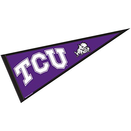 Sports pendant clipart clipart freeuse College Flags and Banners Co. TCU Pennant Full Size Felt clipart freeuse