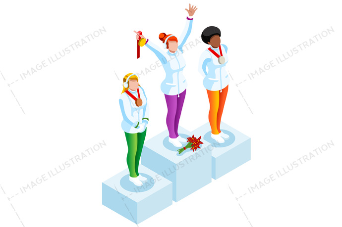 Sportsman clipart png free download Podium Clipart Winter Sports png free download