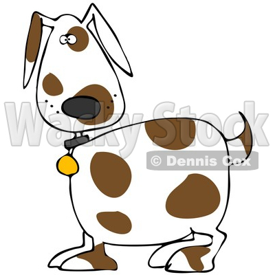 Spot the dog clipart picture download Brown dog with white spots clipart - ClipartFest picture download