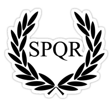Spqr clipart graphic stock Camp Jupiter - Black Logo\' Sticker by katemonsoon | Tattoo ... graphic stock