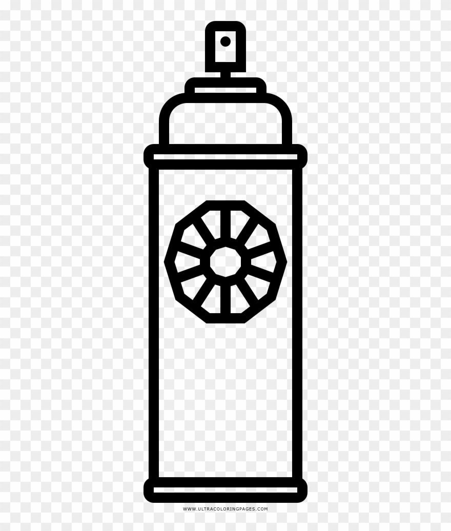 Spray and pray clipart clipart transparent library Spray Paint Coloring Page - Line Art Clipart (#4509620 ... clipart transparent library