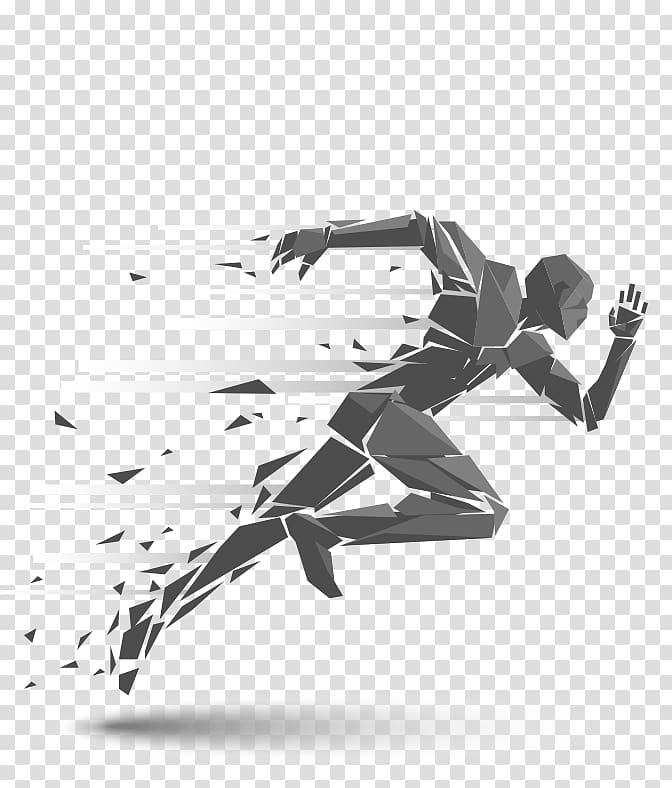 Spray and pray clipart clip black and white stock Person running illustration, Running Silhouette Illustration ... clip black and white stock