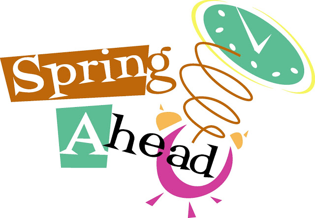 Spring ahead 2018 clipart picture royalty free library Spring Ahead! Daylight Savings Time begins March 11, 2018 picture royalty free library