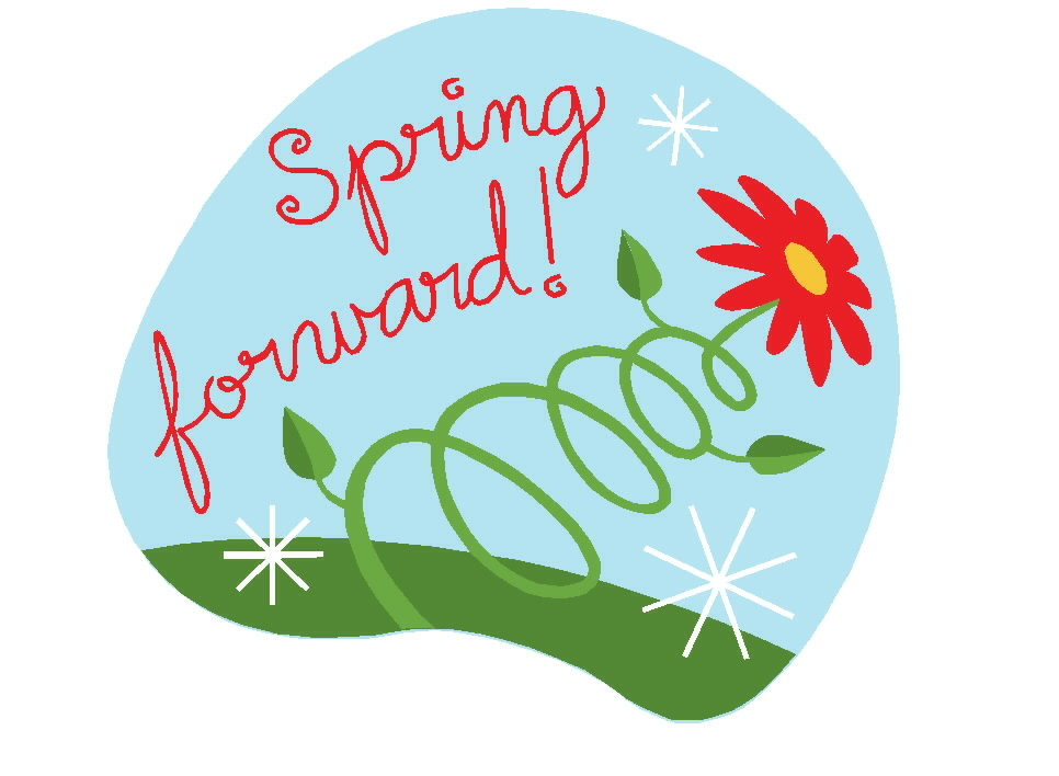 Spring ahead 2018 clipart black and white Spring forward 2018 clipart 5 » Clipart Station black and white