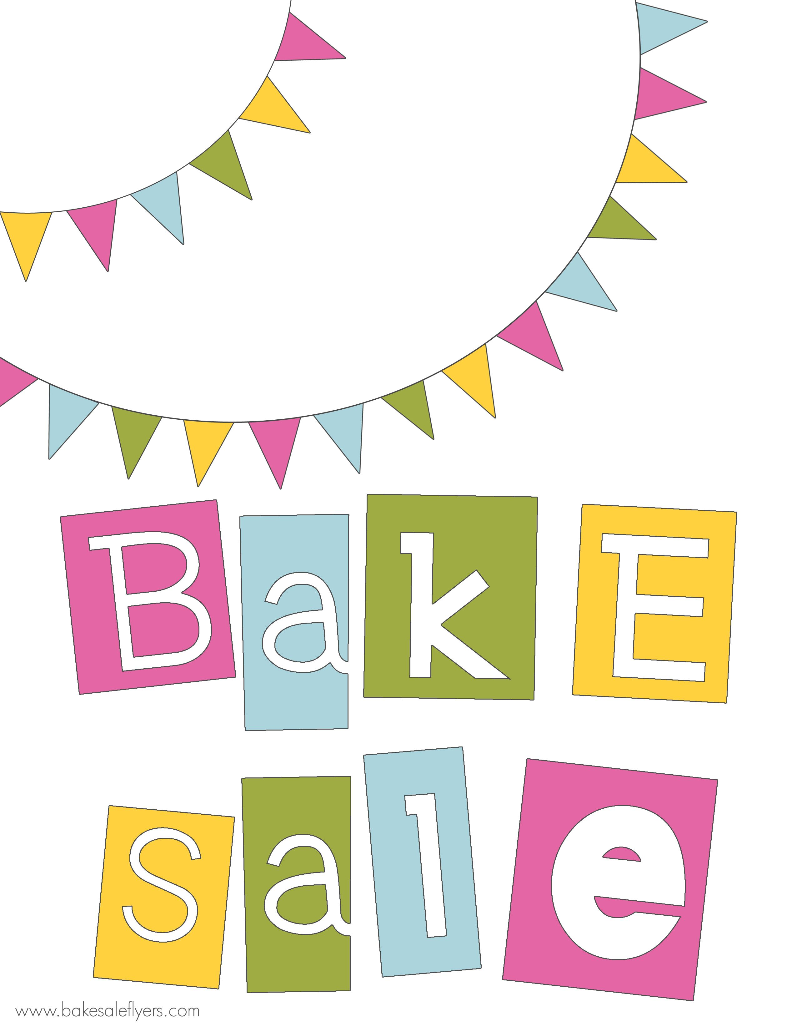 Spring bake sale clipart freeuse library free printable bake sale banner | Bake Sale Ideas | Bake ... freeuse library