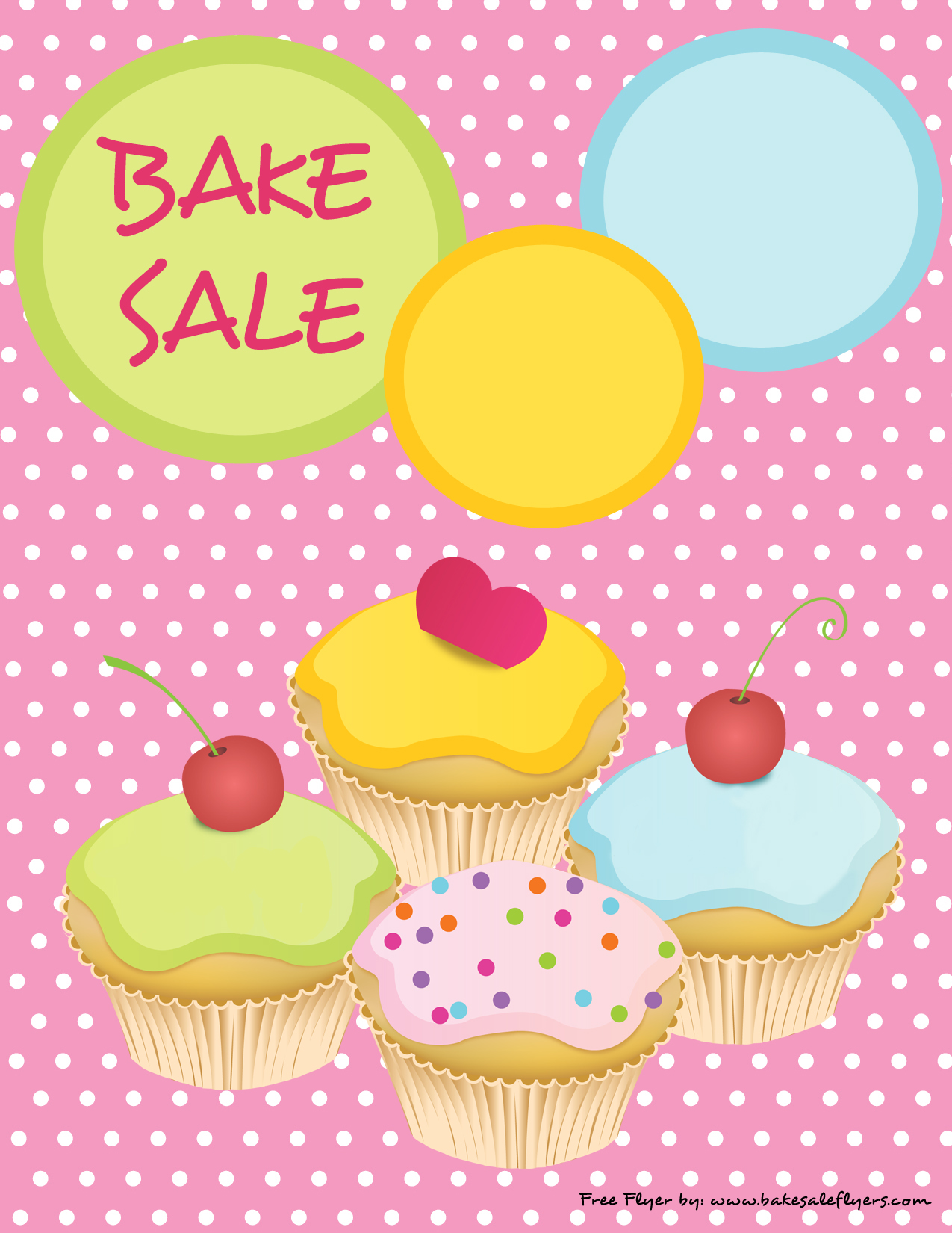 Spring bake sale clipart black and white library Printable Bake Sale Flyer – Cute Pink with Cupcakes | Bake ... black and white library
