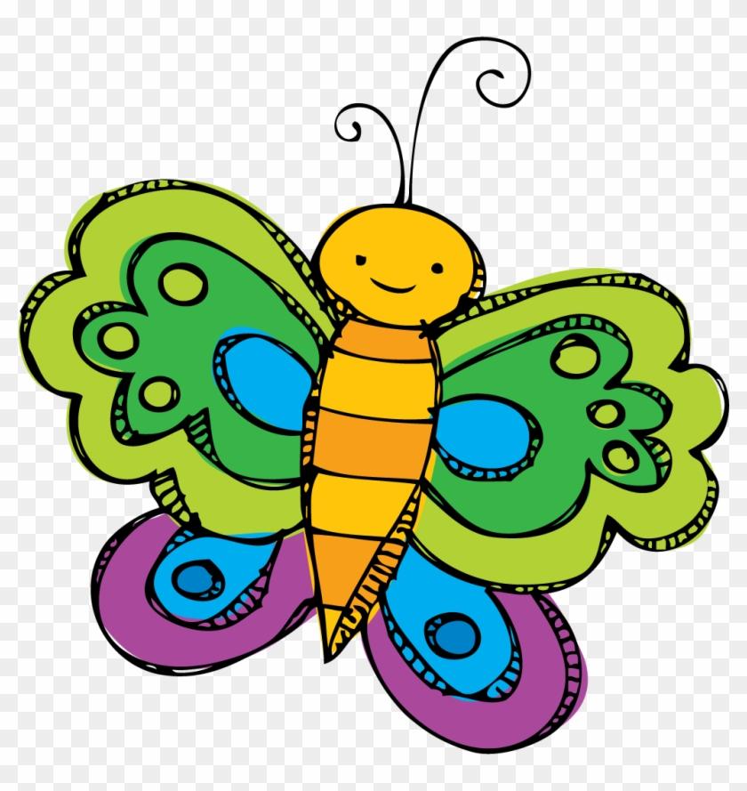 Spring beak clipart free vector royalty free Spring Break Clip Art - Butterfly Spring Clip Art - Free ... vector royalty free