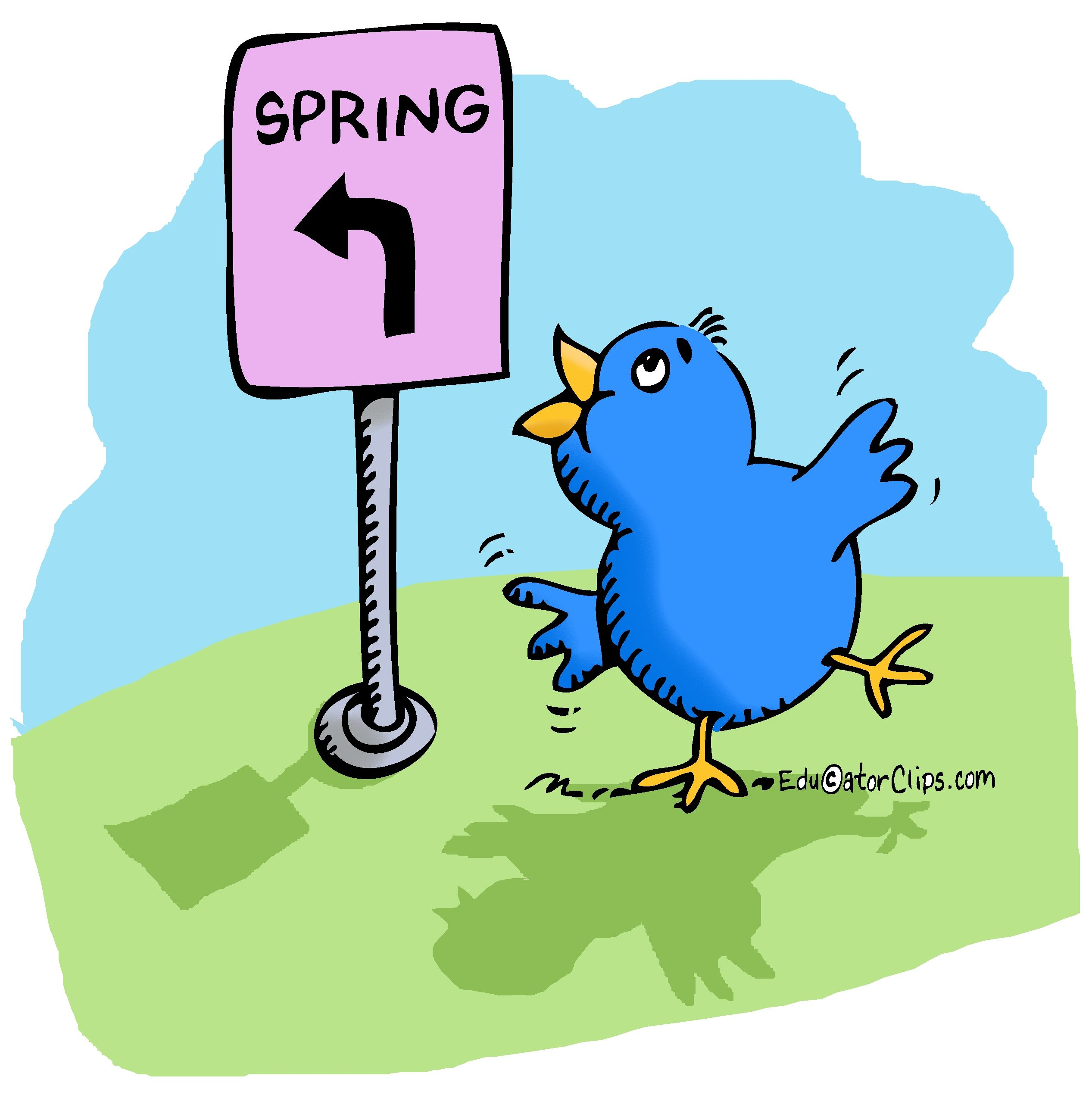 Spring bluebird clipart banner black and white library Get clip art for teachers at www.EducatorClips.com ... banner black and white library