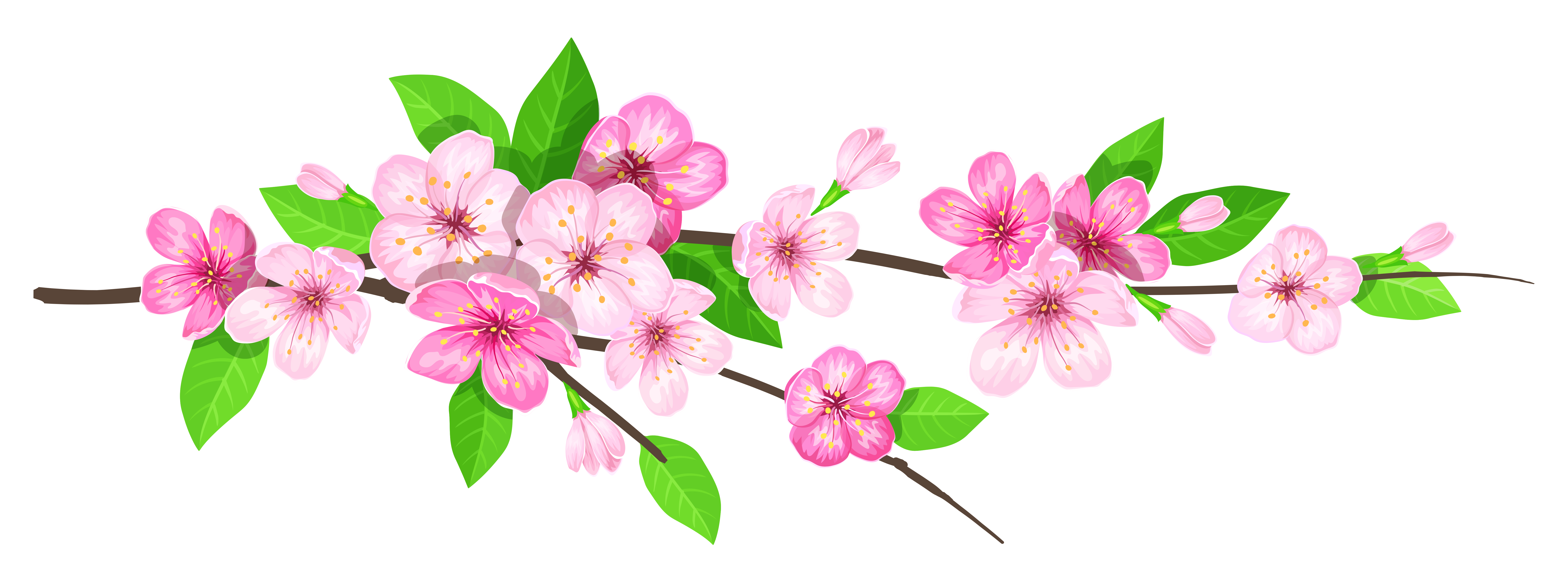 Spring branch clipart clipart transparent Pink Spring Branch PNG Image | Gallery Yopriceville - High ... clipart transparent