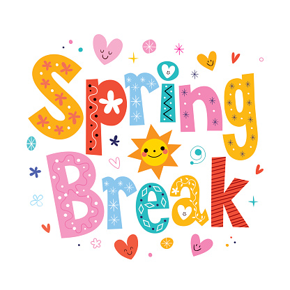Spring break clipart for teachers picture freeuse library Spring Break – Schools are Closed » McKinley School PTA picture freeuse library