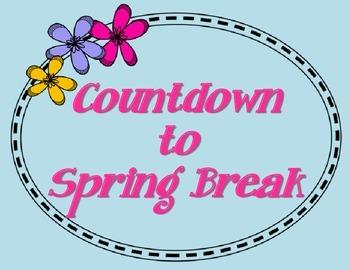 Spring break countdown clipart picture stock \