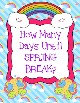 Spring break countdown clipart clipart free How Many Days Until Spring Break? Countdown Display clipart free