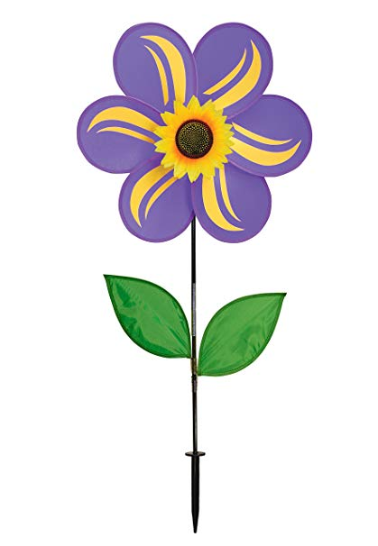 Spring breeze let air in clipart picture transparent download In the Breeze 2741 Purple Sunflower Wind Spinner with Leaves, 19 Inch, picture transparent download