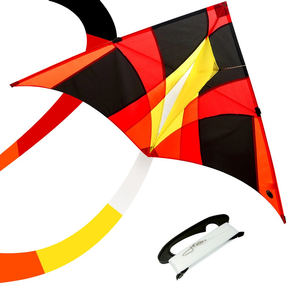 Spring breeze let air in clipart image library download emma kites Reverie & Firebird 60in Delta Kite Rainbow for Beginner Kids  Adults Easy to Fly - RTF Kit Including Kite Tail & 320ft Kite String - for  ... image library download