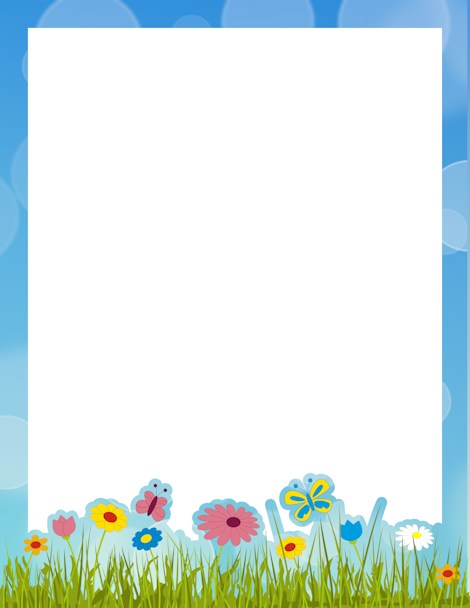 Spring clipart free borders svg royalty free library Pin by Muse Printables on Page Borders and Border Clip Art ... svg royalty free library