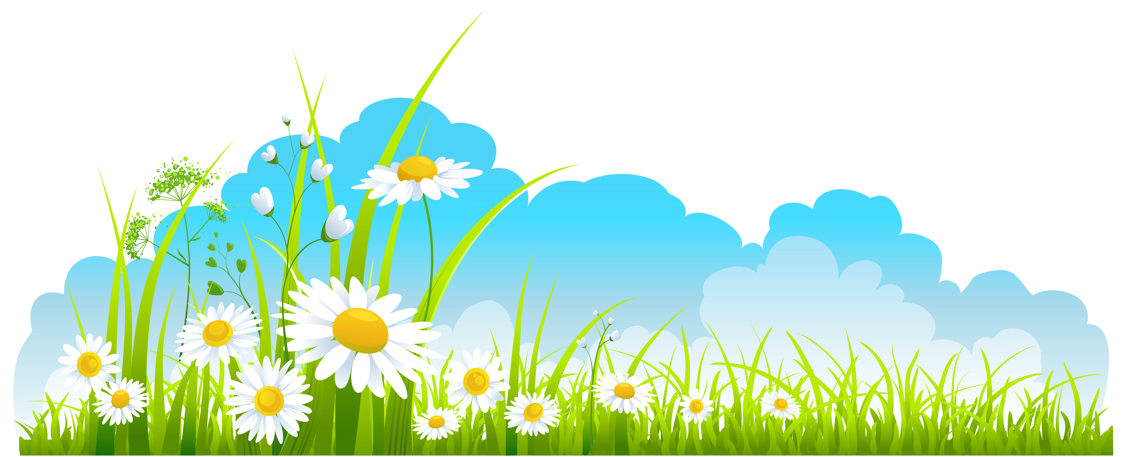 Spring flower backgrounds clipart clip art royalty free Spring Decor Sky Grass and Camomile PNG Clipart - ClipArt Best ... clip art royalty free