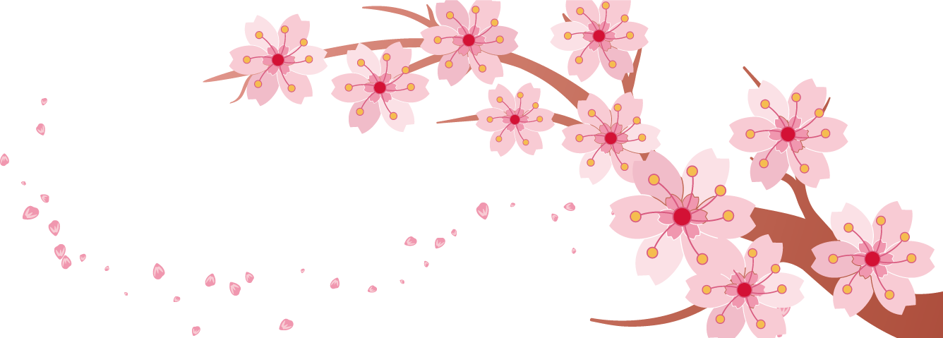 Spring flower banner clipart png library library Cherry blossom Banner - Spring pink cherry creative 1336*479 ... png library library