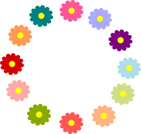 Spring flower wreath clipart svg library Spring Flower Border - Spring Flower Border Clip Art Comfy Project ... svg library