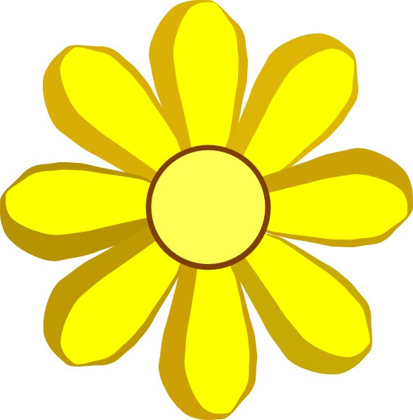 Spring flower clipart images free stock Yellow Spring Flower Clip Art at Clker.com - vector clip art online ... free stock