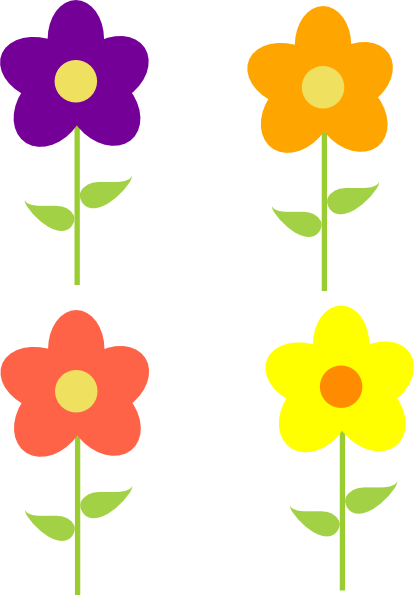 Spring flower clipart png clip art library library Spring Flowers Multi Colors Clip Art at Clker.com - vector clip ... clip art library library