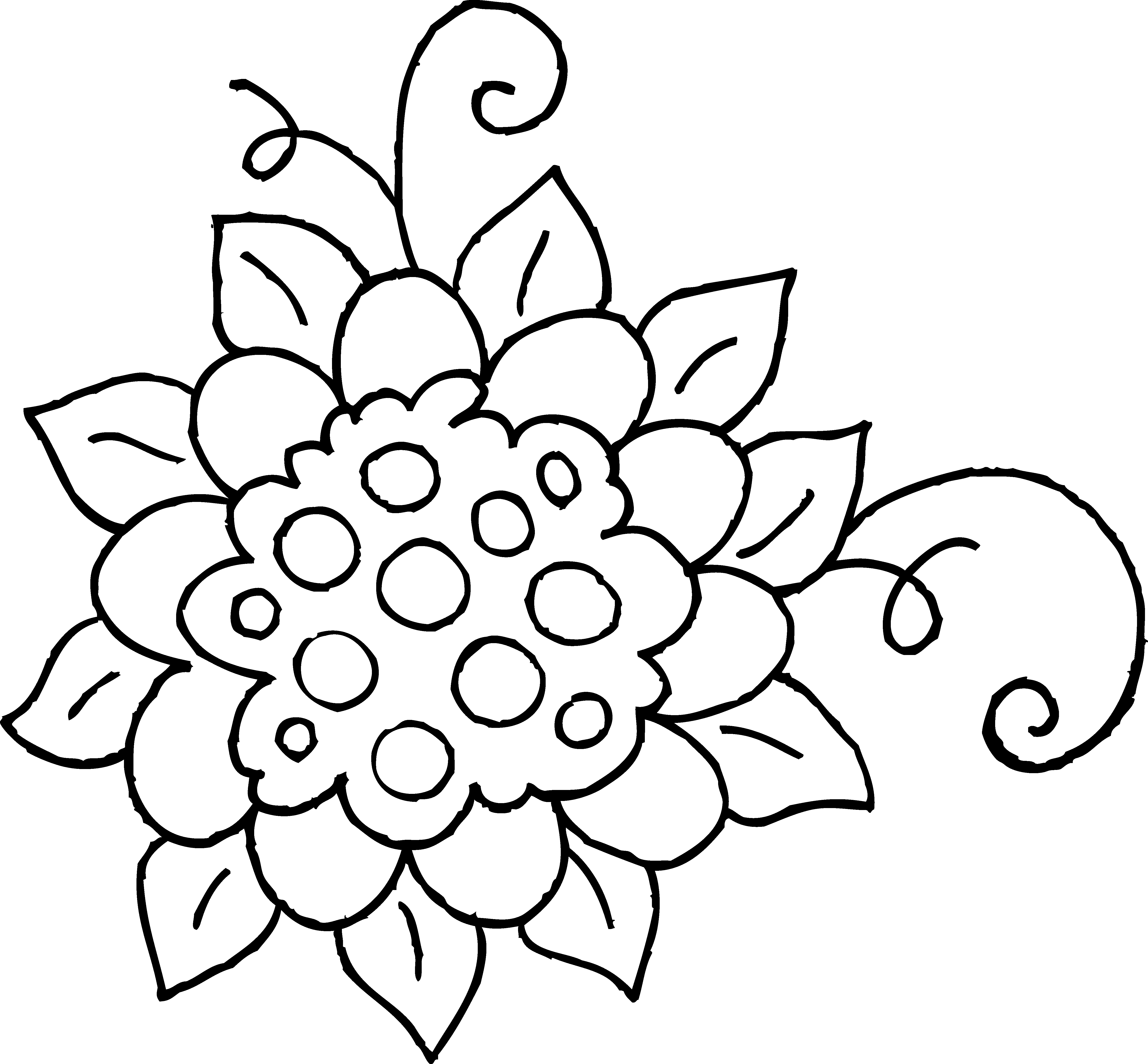Spring flowers black and white clipart transparent clipart royalty free library Black and white Flower Drawing Clip art - Drawings Of Spring ... clipart royalty free library