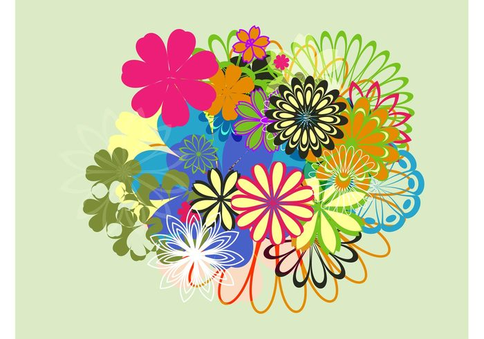 Spring flowers graphics picture transparent Spring Flowers Layout - Download Free Vector Art, Stock Graphics ... picture transparent