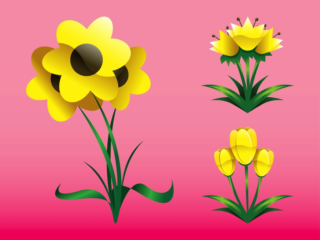 Spring flowers graphics svg black and white download Spring Flowers Graphics Vector Art & Graphics | freevector.com svg black and white download