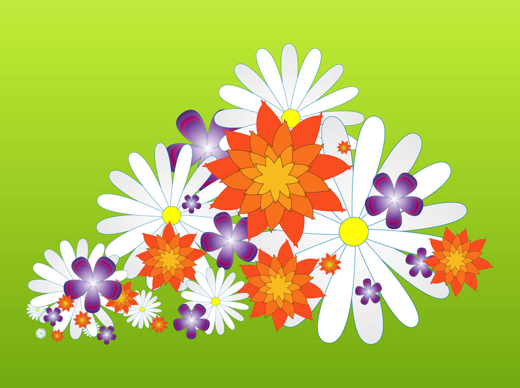 Spring flowers graphics graphic black and white stock Spring Flower Blossoms Graphics Vector Art & Graphics | freevector.com graphic black and white stock