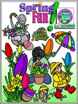Spring fun clipart free png transparent stock Spring Fun Clipart w/10 FREE Elements Included png transparent stock