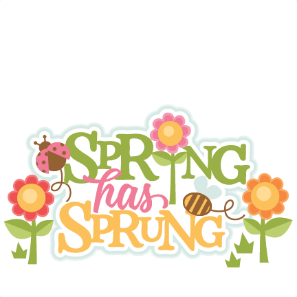 Spring has sprung clipart banner freeuse stock Spring Has Sprung Title SVG scrapbook cut file cute clipart ... banner freeuse stock
