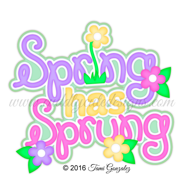 Spring has sprung clipart clip black and white download Spring has Sprung | Cositas | Scrapbook titles, Cute designs ... clip black and white download