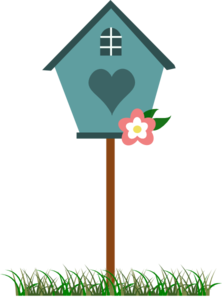 Spring house clipart royalty free Bird House Clip Art at Clker.com - vector clip art online ... royalty free