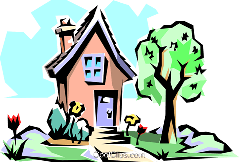 Spring house clipart transparent stock House in spring Royalty Free Vector Clip Art illustration ... transparent stock